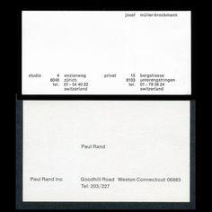 DesignApplause | Paul rand vs josef müller brockmann business cards.