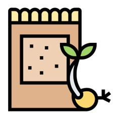 See more icon inspiration related to bag, seed, seed bag, farming and gardening, ecology and environment, fertilizer, organic, gardening, seeds, garden and nature on Flaticon.