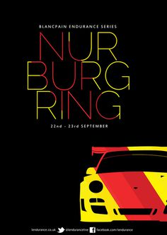 Blancpain Nurburgring Poster on Behance