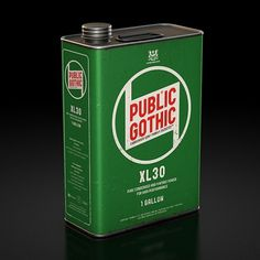 Public Gothic : Lovely Package . Curating the very best packaging design. #font #public #packaging #gothic #industrial #vintage