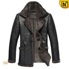 Sheepskin Shearling Coat Men CW819436 - cwmalls.com #sheepskin #coat