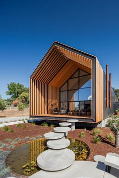 Beautiful Monolithic Home Built of Prefabricated Black Concrete Panels 2