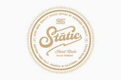 Static Coffee Logo #logo #branding #coffee #hand made