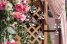 Подвесной подсвечник шар из стекла - взять в аренду в Киеве