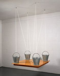 today and tomorrow #sculpture #table #the #on #buckets #1970 #martin #craig #michael