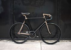 The Pursuit Aesthetic: Photo #gold #bike #black