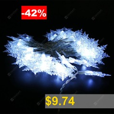 ZDM #Snowflake #light #string #LED #5V #White #Indoor #Fairy #Lights #for #Christmas #Day #Party #Decoration