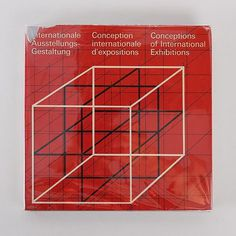 Conceptions of International Exhibitions Book by Hans Neuburg. An icon of the Swiss international typographic style.