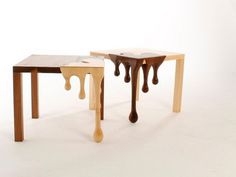 Chocolate tables #tables #fusion #chocolate #furniture #art