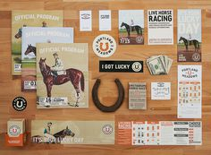 Portland Meadows: Brand ID, Collateral #id #letterhead #horse #shoe