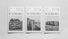 The Iceberg #zine #print #grid #spread #type #layout #magazine