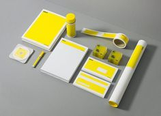 ideo architekci on the Behance Network #stationary #yellow #branding