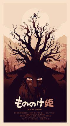Posters | Olly Moss #mononoke #princess