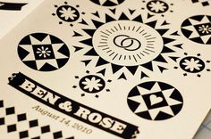Benjamin Della Rosa // Graphic Design // Illustration #stationary #print #design #identity #wedding