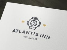 Dribbble - Atlantis Inn update by Trey McKay #atlantis #branding #identity #logo #typography