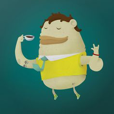 Enjoy coffee Justas Cekauskas Portfolio #coffee #design #character #dude