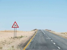 Lonely Road Signs of Namibia: Landscape Photography by Helin Bereket