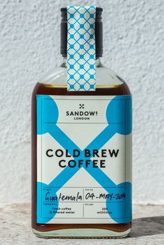 SEE - LOOK -LISTEN -DRINK -EAT (COLD BREW COFFEE CRAFTED IN LONDON Making coffee...) #packaging #cold brew #coffee