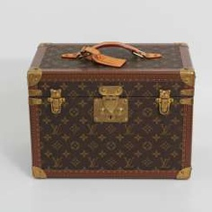 LOUIS VUITTON VINTAGE elegant gray Beauty Case