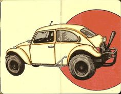 All sizes | new bug | Flickr - Photo Sharing! #ink #and #beetle #dragster #moleskine #pen #inkandclay #drawing #sketch