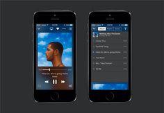 Music Player app .sketch resource
