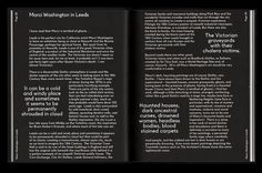 Catalogue - Graphic Design, Leeds, UK #contrast #layout #monotone