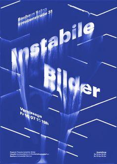 #Poster #Blue #Instabile #Bilder #Weimar #Exhibition