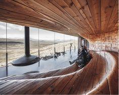 Norwegian Wild Reindeer Centre Pavilion Overlooking the Mountain Snøhetta 8