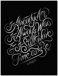 Typeverything.com  Already Am by Jordan Metcalf. #lettering