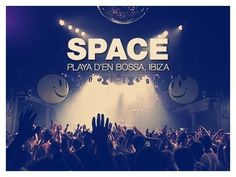 Dribbble - Space, Ibiza by Martin Lucas #ibiza #typography #space #photography #club