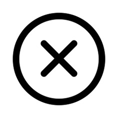 See more icon inspiration related to cancel, error, forbidden, letter x, prohibition, shapes and signs on Flaticon.