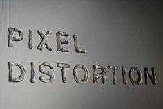 Pixel distortion #digital #liquid #typography