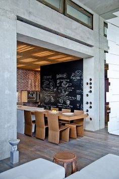 Dining Room #inspiration #design #chalk #kitchen #architecture