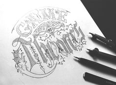 Game of Thrones on Behance #lettering #thrones #of #game #sketch #typography