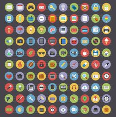 13 Free Flat Icon Sets #graphic design #illustration #icons #icon set