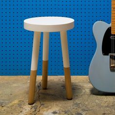 Fab.com | Candy Colored Furniture #blue #guitar #stool