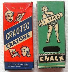 Craotec Crayons #vintage #packaging #retro #crayons #chalk