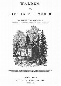 Walden_Thoreau.jpg 360×510 pixels #illustration #books