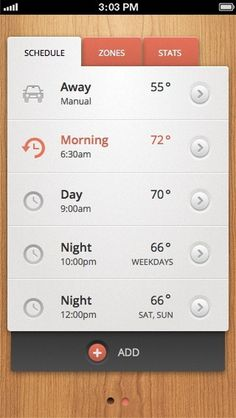 Sam Bible #design #interface #app #mobile #thermostat