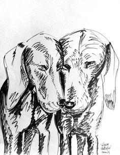Rotulador 2009 | Silvia Mallofre #mallofre #silvia #weimaraner #illustration #dog