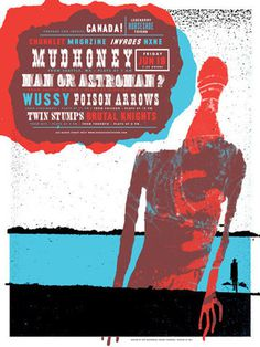 GigPosters.com - Mudhoney - Man Or Astroman? - Wussy - Poison Arrows - Twin Stumps - Brutal Knights