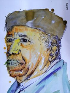 Report Comment #weme #chinua #art #pen #drawing #achebe #watercolour