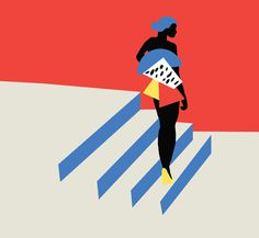 waiting #fitza #illustration #minimal #simple #pattern #fashion #bold #shapes #pose #black
