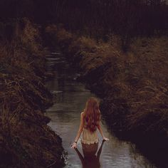 photo #woman #girl #photo #hair #nature #stream