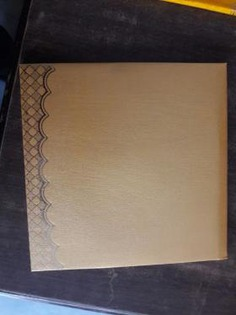 Brown plain wedding invitation card