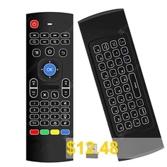 Android #TV #Box #Wireless #Remote #Control #Keyboard #Air #Mouse #2.4ghz #for #KODI #PC #TV #- #BLACK