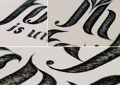 Handmade Typography #typografie #letter #paper #pencil #typo #sketch #typography