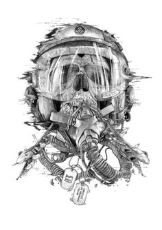 Designersgotoheaven.com - Battlefield 3 Tribute by... - Designers Go To Heaven. #airforce #skull #sketch
