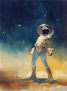 Spaceman by Jeff Jones #fi #illustration #sci #space