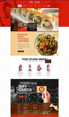 Yokozuna #website #layout #design #restaurant